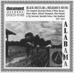 Alabama: Black Secular & Religious Music (1927-1934)