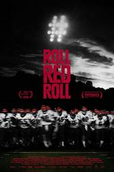 Film poster depicting a line of high school football players running toward the viewer.
