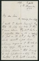 Letter from James Winter to Samuel Pratt Winter, December 6, 1875
