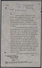 Letter from W. A. Smart to Foreign Office re: Nationalists in Damascus Coordinating with Druze, August 29, 1925