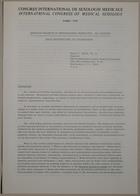 Congrès International de Sexologie Médicale- International Congress of Medical Sexology (Abortion Research In Transnational Perspective: An Overview - Bilan International De L' Avortement) - Paris 1974