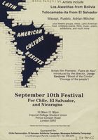 Latin American Culture Resists. September 10th Festival For Chile, El Salvador, and Nicaragua. (b2789445)