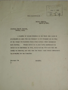 Cablegram from Governor Harding to American Consul General, Habana, Cuba, re: Surplus Labor from Canal Zone Available to Go to Cuba, April 9, 1918