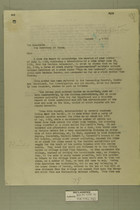 Memo from Newton D. Baker to The Secretary of State, August 12, 1918
