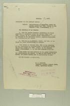 Memo from E. D. Anderson re: Transportation of Explosives Across the Mexican Border near Ruby, Arizona by the Compania Minera Internacional, S. A. February 19, 1919