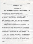 Draft: The President's Committee on Employment of the Handicapped - Joint Statement 1965