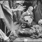 At the German concentration camp at Wobbelin, many inmates were found by the U.S. Ninth Army in pitiful condition. Here one of them breaks out in tears when he finds he is not leaving with the first group to the hospital. Germany, 05/04/1945