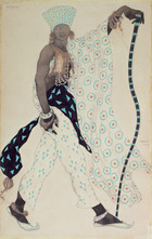 Costume design for `Le Pelerin' : Blue God, 1912