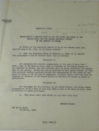Copy of Executive Order Establishing Maximum Rate of Pay for Alien Employees of Panama Canal and Panama Railroad Company, February 20, 1920