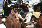 African women at workshop in Africa Tent at NGO Forum, International Women's Tribune Centre Slide Show, NGO Forum, Huairou, China 30 August – 8 September, 1995