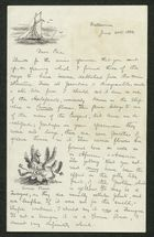 Letter from Godfrey Howitt to Edie Anderson, June 20, 1884