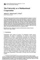 The University as a Multinational Corporation