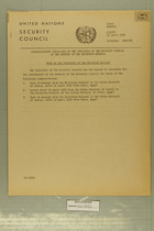 Communications Circulated by the President of the Security Council at the Request of the Secretary-General, 13 April, 1956