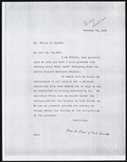 Copy of Letter from Ruth Benedict to Philip M. Hayden, October 19, 1936