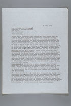 Letter from Mildred Persinger to Laetitia Van Den Assum, May 30, 1979