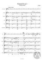 Student Violin Concerto No. 2, arranged for Solo Violin and String Orchestra, Op. 13