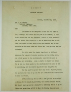Copy of Letter from R. H. Hull to Resident Engineer W. G. Comber re: Dredging Division Housing, December 13, 1916