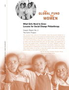 What Girls Need to Grow: Lessons for Social Change Philanthropy
