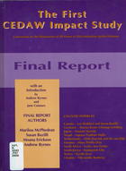 The First CEDAW Impact Study: Final Report