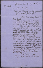 [Copy of] Letter from Lord Odo Russell to Earl Granville, July 2, 1880