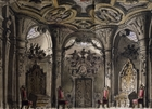Set design by Pietro Bertoja (1828-1911) for Macbeth, opera by Giuseppe Verdi (1813-1901), for performance at La Fenice Theatre in Venice, 1847-1848