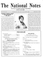 Program, Fifteenth Biennial Meeting, National Association of Colored Women, August 1-6, 1926
