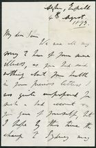 Letter from James Winter to Samuel Pratt Winter, August 4, 1877