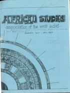 African Studies Association of the West Indies, Bulletin no. 1, December 1967