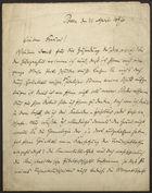 Letter from Philipp Bloch to Markus Brann, April 21, 1896