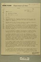 Telegram from Edward B. Lawson in Tel Aviv to Secretary of State, April 5, 1955