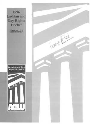 1996 Lesbian and Gay Rights Docket - ACLU