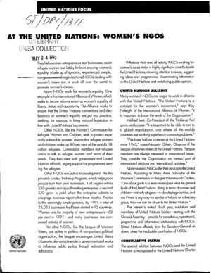 At the UN Women's NGOs