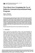 West Meets East: Examining the Use of Reflective Journals in International Study Programs
