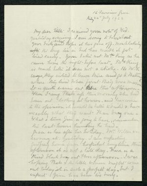 Letter to My dear Edith, July 24, 1936