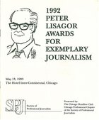 1992 Peter Lisagor Awards for Exemplary Journalism
