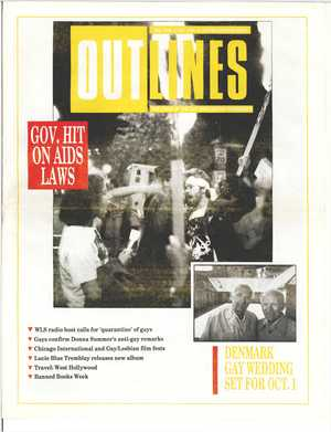 Outlines, The Voice of the Gay and Lesbian Community, Vol 3 No. 5, October 1989