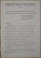Congrès International de Sexologie Médicale- International Congress of Medical Sexology (Interdisciplinary Treatment and Study of Sexual Distress - Traitement Interdisciplinaire et Etude de la Détresse Sexuelle) - Paris 1974