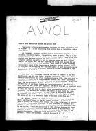 AWOL, Vol. 1 no. 1, 1969