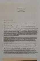 Letter from President Clinton to Frank H. Murkowski re: Rwanda