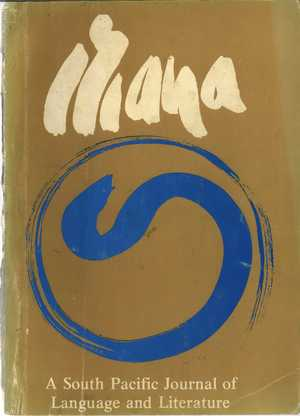 MANA: A South Pacific Journal of Language and Literature, Vol. 2, No. 2