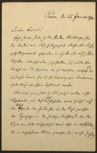 Letter from Philipp Bloch to Markus Brann, January 22, 1900