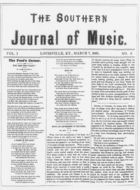 The Southern Journal of Music,  Vol. 1, no. 6, March 7, 1868