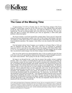 The Case of the Missing Time