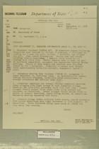 Telegram from John Sabini in Jerusalem to Secretary of State, September 17, 1956