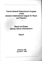 Twenty-Seventh International Congress of the Women's International League for Peace and Freedom