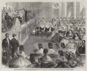 Amateur Concert at the Hanover-Square Rooms for the Benefit of the British Asylum for Deaf and Dumb Females (engraving)