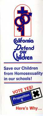 California Defend our Children Vote Yes! Proposition 6 - Here's Why