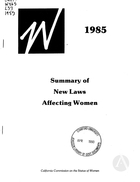 1985 Summary of New Laws Affecting Women