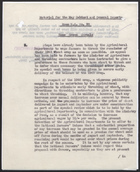 R.S. Memo No. 92 re: Material for the May Cabinet and General Reports on Home Grown Cereals, 1946