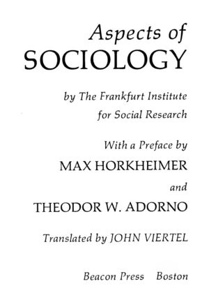 Aspects of Sociology